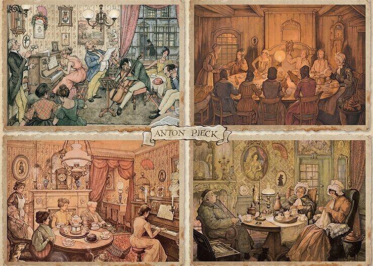 Jumbo Unterhaltung im Wohnzimmer - 1000 Teile (18856)