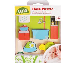 Lena Holzspielzeug - Holzpuzzle Bad (32143)