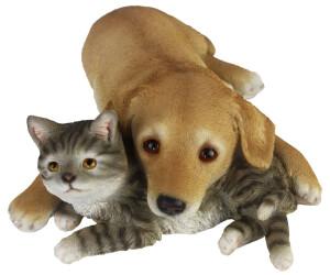 Esschert Dog and Cat Lying Down