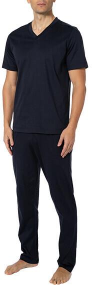 Zimmerli Pyjama blau (3460-95301+304-447)