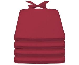 Beautissu Pia 4er 45 x 40 x 5 cm Rot