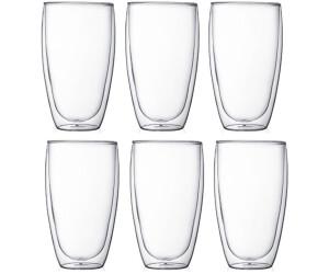 Bodum 6 Stk. Glas doppelwandig 0,45 L Pavina
