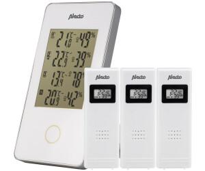 Alecto Drahtlose Wetterstation mit 3 Sensoren Weiß WS-1330
