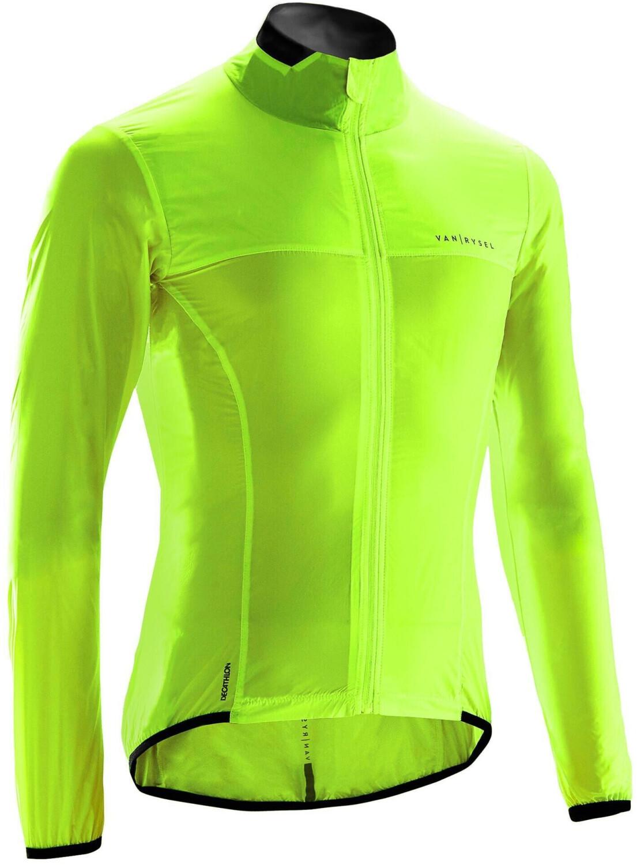 Van Rysel Fahrrad Windjacke Rennrad RR 500 Herren gelb
