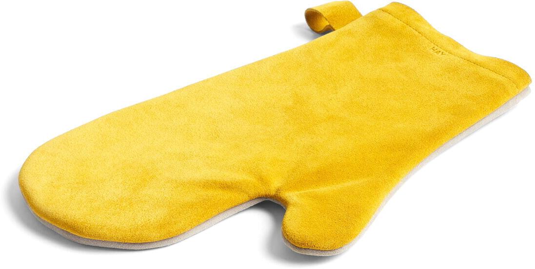 HAY Suede Ofenhandschuh, gelb