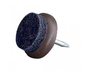 homeXpert 16 Stück Filzgleiter, Möbelgleiter, Stuhlgleiter in braun Ø 17/20 mm, für Hartböden