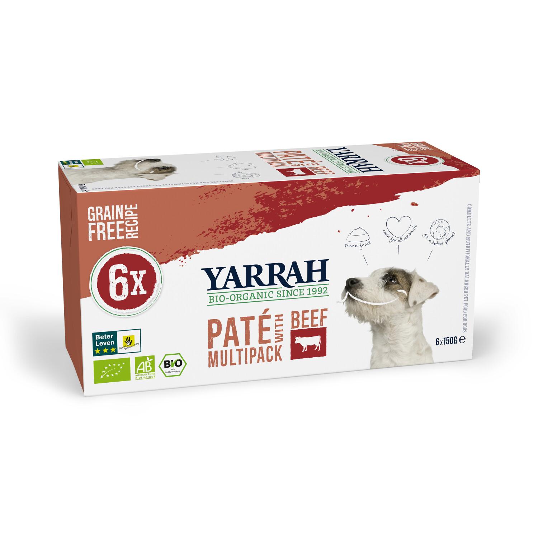 Yarrah Bio-Hundefutter Multi Pack mit Rind und Huhn 6x150g