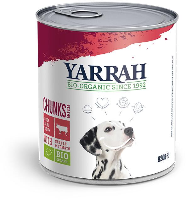 Yarrah Bio-Hundefutter Bröckchen mit Huhn und Rind 820g