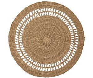 Greengate Willow Tischset rund Stroh 38 cm