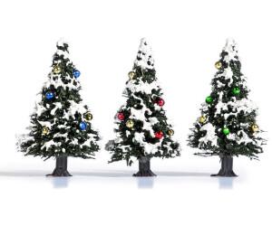 Busch Modellbau - 3 Verschneite Weihnachtsbäume (6464)