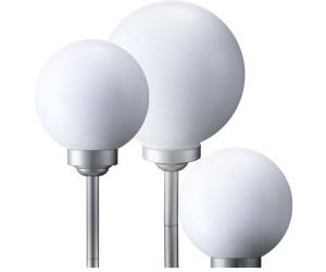ETC Shop LED Solarkugel-3er-Set weiß