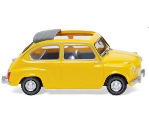 Wiking Fiat 600 m. offenem Faltdach - gelb (009905)