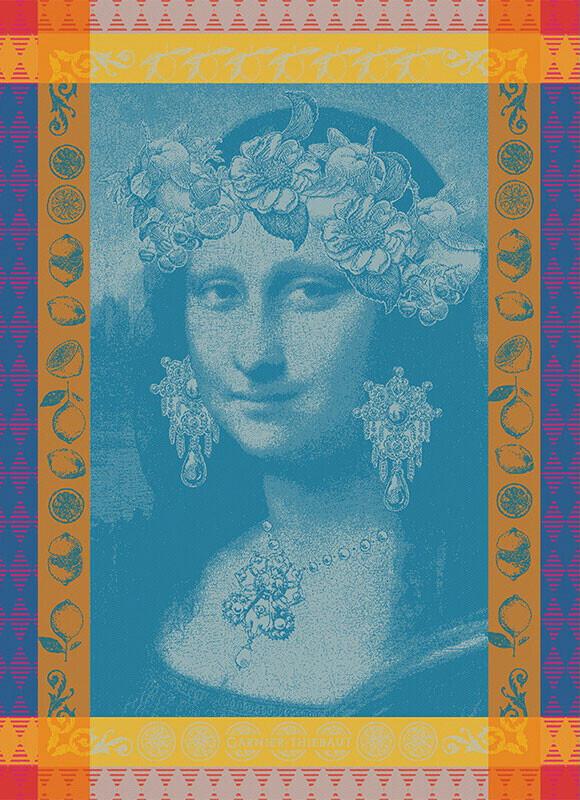 Garnier-Thiebaut Geschirrtuch Mona Lisa Bleu 56x77 cm