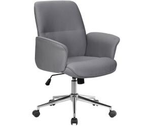 SixBros. Bürostuhl Drehstuhl 0704M/8062 Stoff grau