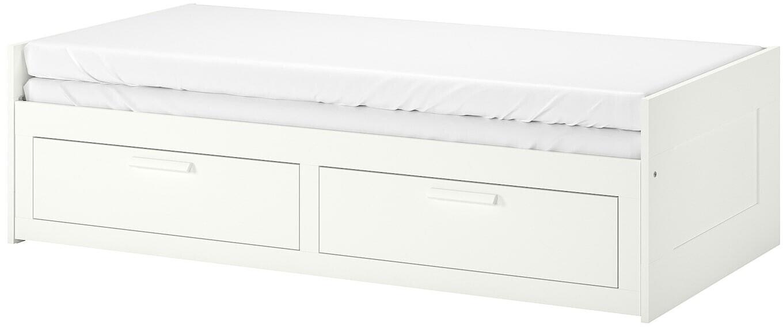 Ikea BRIMNES Tagesbettgestell 2 Schubladen weiß 80x200 cm 002.287.05 ab 149,00 ...