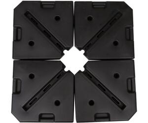 Outsunny Schirmgewicht 4-tlg. 80 kg Wasser / 120 kg Sand HDPE schwarz (84D-070.)