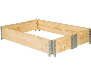 TecTake Hochbeet 80 x 120 x 19 cm Holzdekor