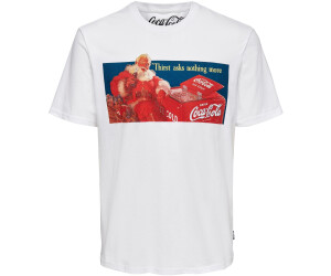 Only & Sons Onscocacola Life Reg Xmas Tee (22017744) white