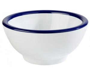 APS Schale -PURE- aus Melamin, weiß, blauer Rand, Ø 13 cm, Höhe: 6,5 cm