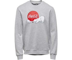 Only Onscocacola Life Reg Crew Xmas Sweat (22017836) light grey melange