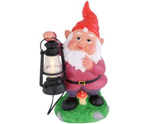 ETC Shop LED-Solar-Gartenzwerg mit Laterne 25,5cm (3314_double)