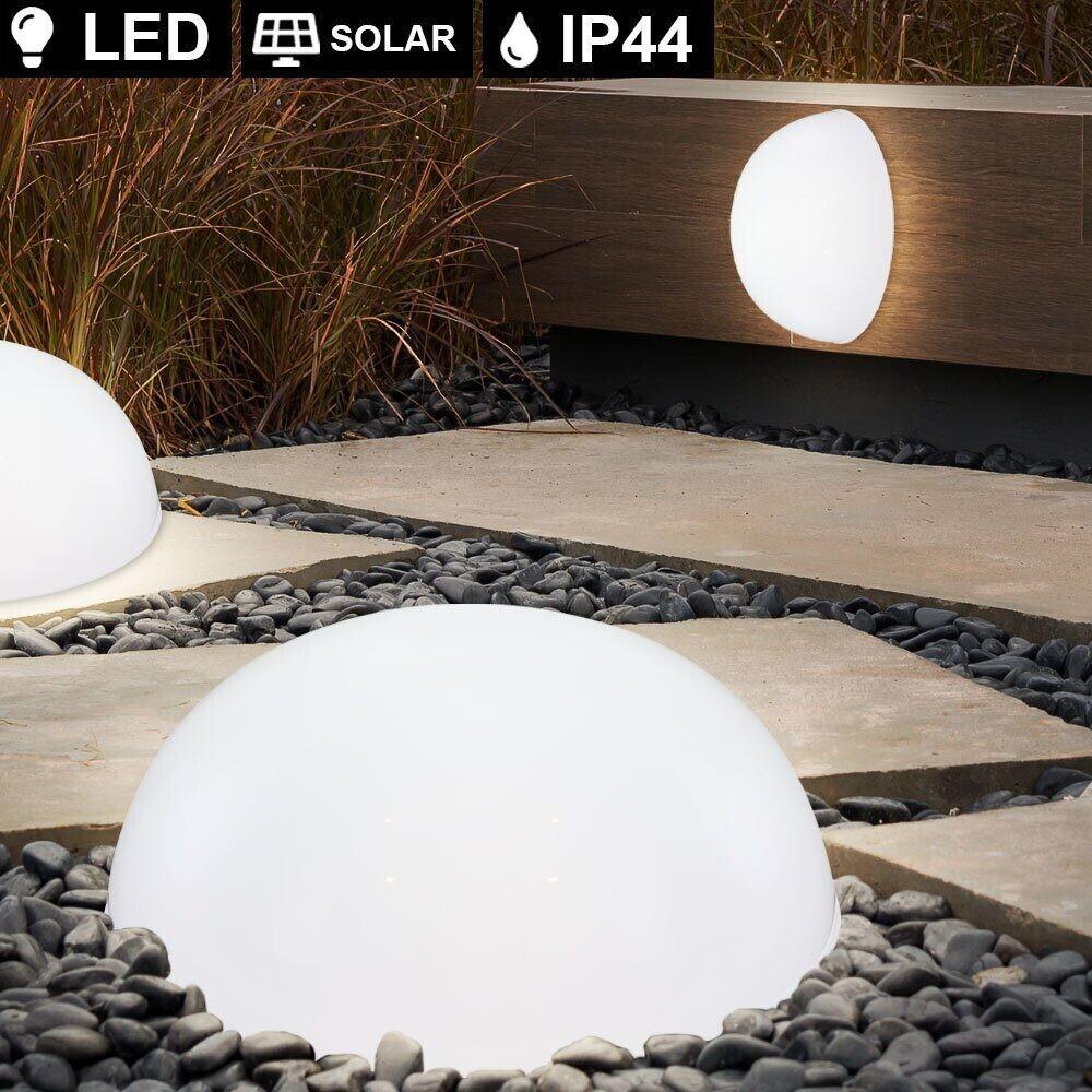 ETC Shop LED-Solarleuchten-Set für den Außenbereich