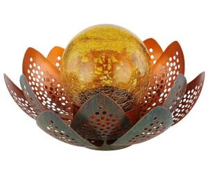 ETC Shop LED-Solar-Lotusblume grün/gold (33655)