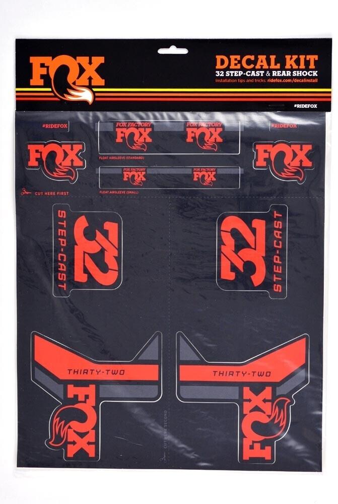Fox AM Step-Cast Aufkleber-Set red