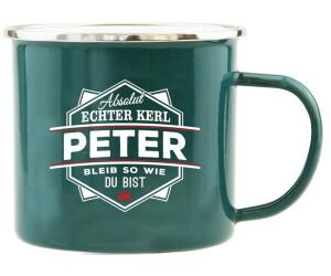 HTI-Living Becher Echter Kerl Emaille Becher Peter