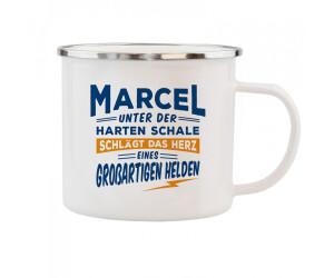 HTI-Living Becher Echter Kerl Emaille Becher Marcel