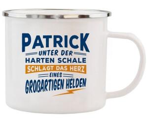 HTI-Living Becher Echter Kerl Emaille Becher Patrick
