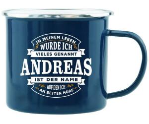 HTI-Living Becher Echter Kerl Emaille Becher Andreas