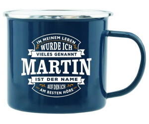 HTI-Living Becher Echter Kerl Emaille Becher Martin