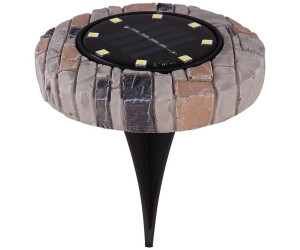 ETC Shop LED-Solar-Strahler Stein-Optik 8er-Set