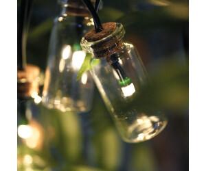 Esotec LED-Solar-Lichterkette mit 20 Glasfläschchen (102187)