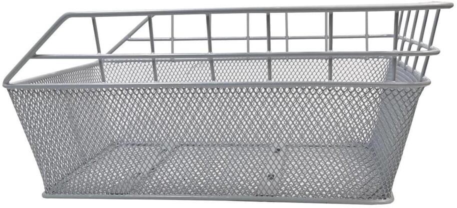 VDP Fahrradkorb Schultaschenkorb 45x29,5x21 cm,  silber