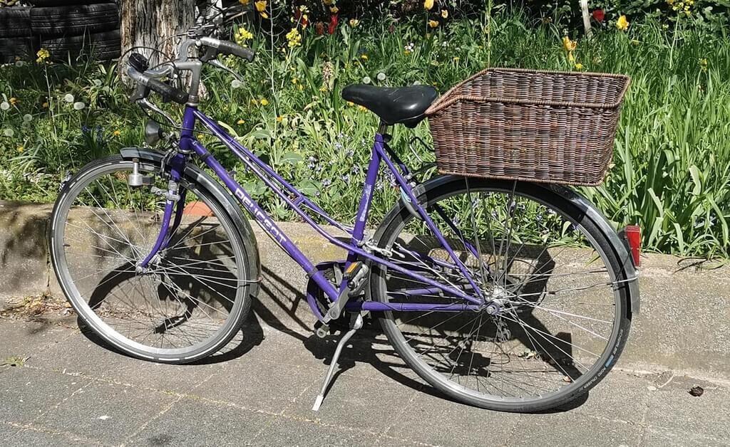 VDP Fahrradkorb XXL Red Loon Rattanlook XXL dunkelbraun (EAST_BJD-418)