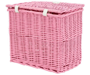 Tom.bv AMIGO Fahrradkorb mit Deckel rosa