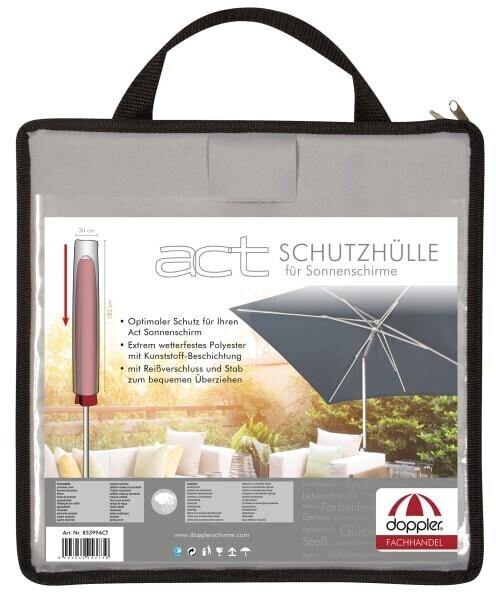 Doppler Schirmhülle für Sonnenschirm Act hellgrau