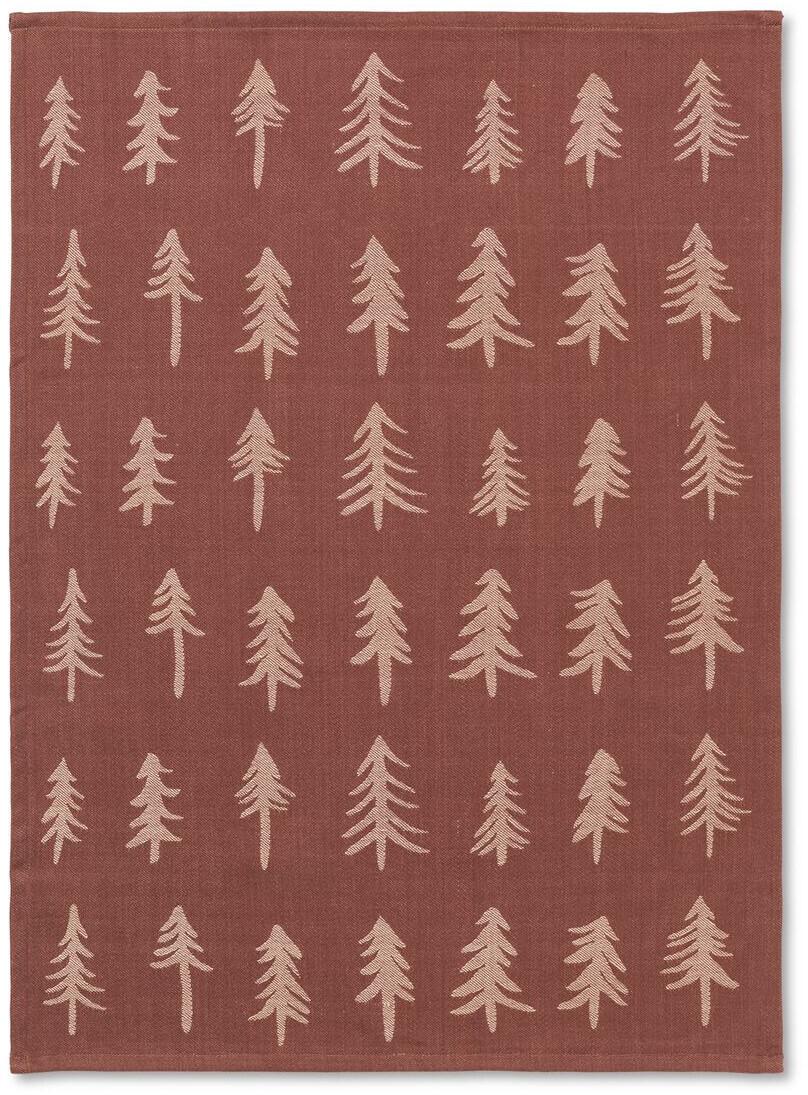 Ferm Living Christmas Geschirrtuch rechteckig 50 x 70 cm orange