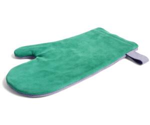 HAY Suede Ofenhandschuhe 20 x 32 cm grün