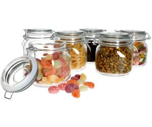 MamboCat Foody Vorratsgläser 750 ml (6 Stk.)