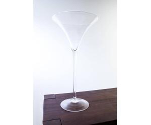INNA Glas XXL Cocktailglas / Martiniglas Sacha, klar, 50cm, Ø 25cm - Hochzeitsvase / Hochzeitsdeko