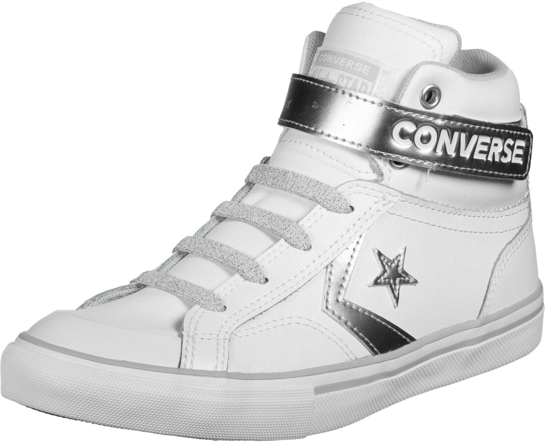 Converse Pro Blaze Strap Metallic Leather Hi white/silver