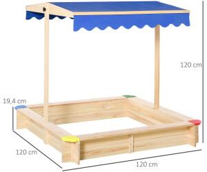 Outsunny Sandkasten absenkbarem schwenkbarem Dach (343035)