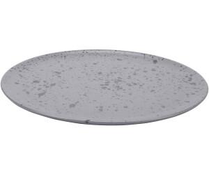 Aida Raw Teller 28 cm grau, gemustert