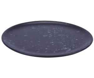 Aida Raw Teller 20 cm schwarz, gemustert