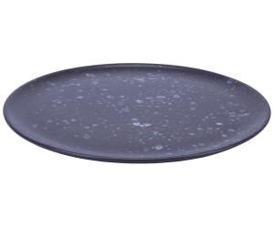 Aida Raw Teller 28 cm schwarz, gemustert