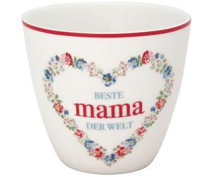 Greengate Mama Latte Becher weiß 0,3 l