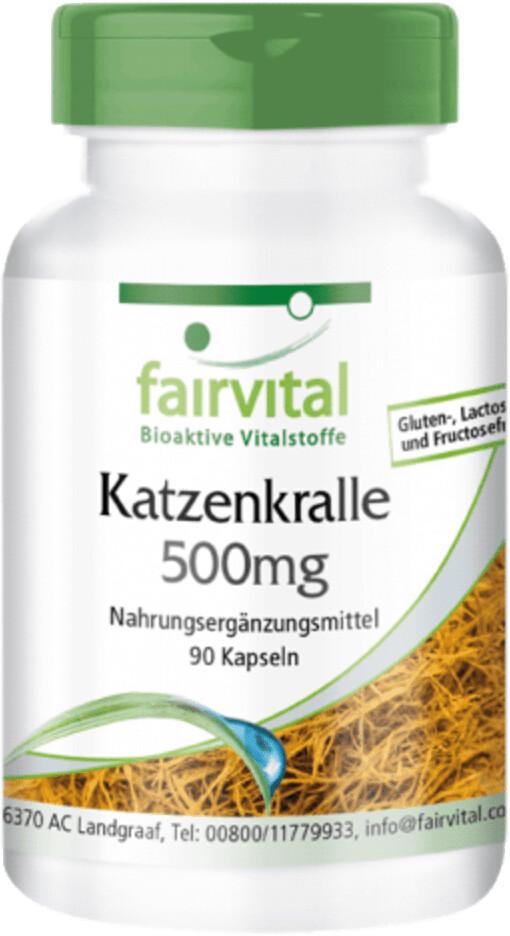 Fairvital Katzenkralle 500mg Kapseln (90Stk.)